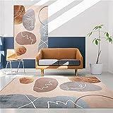 alfombras vintage marrón Alfombra de sala de estar marrón abstracto minimalista moderno alfombra anti-sucia duradera alfombra antiacaros salon 160X230CM alfombras salon lavables en lavadora 5ft 3''X7f