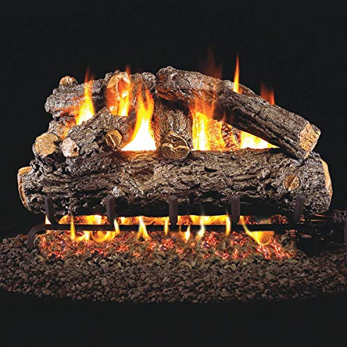 Lowest Prices! Peterson Real Fyre 30-Inch Rustic Oak Designer Gas Log Set with Vented Natural Gas G4...