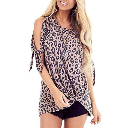 Briskorry Damen Kurzarm T-Shirt Sommer Tops Casual Oberteil O Ausschnitt Bluse elegant Vintage Tunika Lose T-Shirts Sommer Hemd
