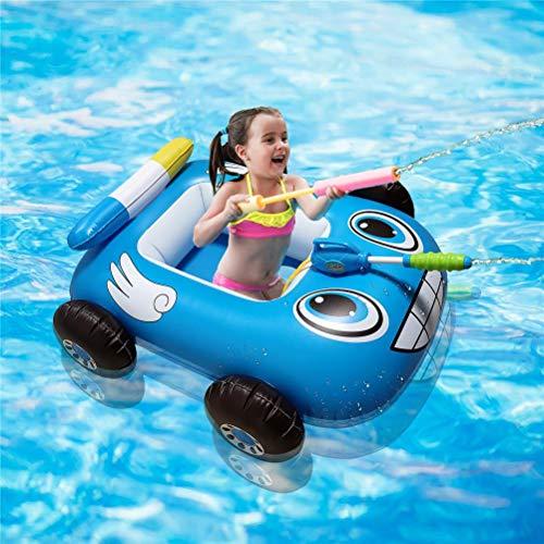 NANUNU Barco inflable de fuego de verano de 85 x 80 x 35 cm, con pistola de agua incorporada inflable hinchable para niños