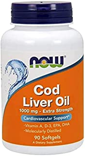 NOW Foods Cod Liver Oil 1000 mg Softgels 90's