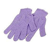 SUPVOX 2対のシャワー用手袋浴体剥離手袋(ランダムカラー)