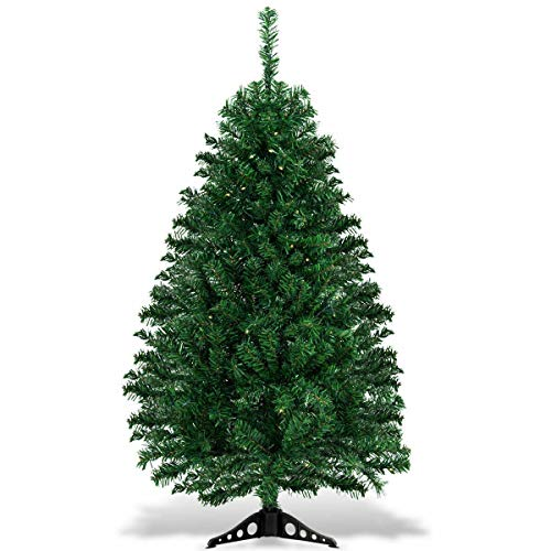 7DIPT 4 ft Tabletop Artificial Christmas Tree with LED Lights
