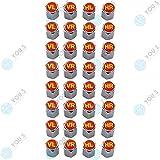 YOU.S Alluminio Coperture Valvole con Guarnizione con Marcatura Pneumatico Rosso Giallo Valvola Taglio Copertura per Auto Veicoli Camion (8 Serie)
