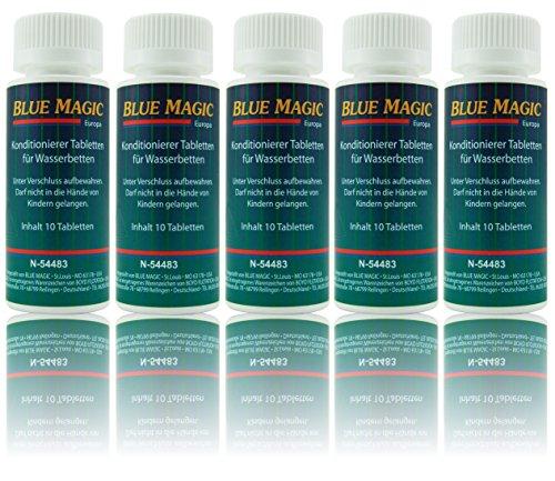 Blue Magic Conditioner Konditionierer Tabletten Tabs Wasserbett Schlauchsystem Kissen 50 Stück