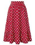 Belle Poque BPS02054 - Falda para Mujer, Estilo Casual, Cintura Alta, Falda Plisada Bp2054-2 S