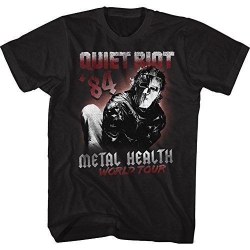 American Classics Quiet Riot World Tour 84 Black Adult T-Shirt Tee