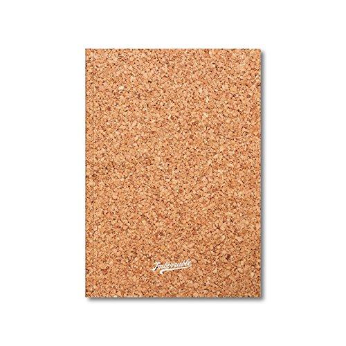 Imborrable Corcho - Cuaderno de notas con malla de puntos, 144 páginas, A5, 14.8 x 21 cm