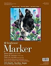 Strathmore Bloc Enc 11x14 24H Marker (400) 190g Blanco, Multicolor, 35.82 x 27.94 x 0.64 cm