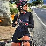 Triathlon Uniform Frauen Lange Rad Sets Overall 9D Pad Bicycle Clothing Bike Jersey Sets Mtb Haftanzug radfahren. (Color : 1, Size : X-Small)