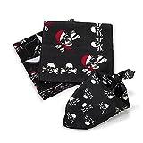 cama24com Piraten Bandana Kopftuch 12 Stück 3 Motive für Piratenparty mit Palandi® Sticker