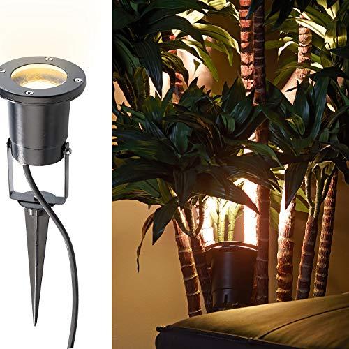 Luminea Blumenstrahler: Indoor-Pflanzenstrahler, einflammig, GU10, schwarz 1,5M Kabel (Pflanzenstrahler Innenbereich)