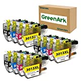 GREENARK Compatible Ink Cartridge Replacement for Brother LC3013 LC-3013 XL High Yield Ink use for Brother MFC-J491DW, MFC-J497DW, MFC-J690DW, MFC-J895DW Printer (3 Black, 3 Cyan, 3 Magenta, 3 Yellow)