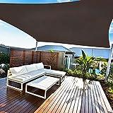 Amazmic Sun Shade Sail Rectangle 10'x13' UV Block Waterproof Canopy Outdoor Activities Patio/Garden/Backyard/Swimming Pools/Carports, Brown