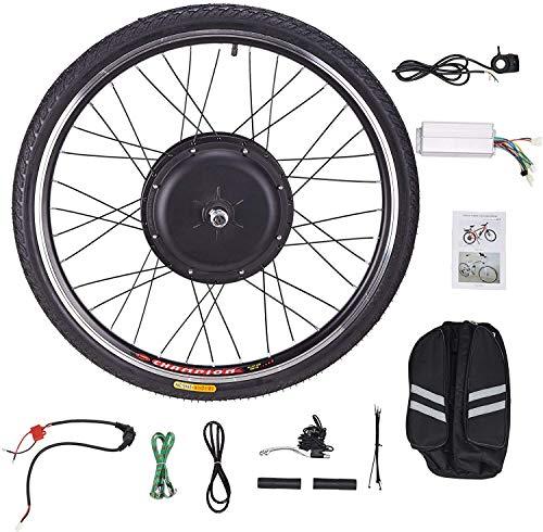 Viribus 48V 1000W Kit de Conversión para Bicecleta Eléctrica Kit de Conversión de Bicicleta Electric para Rueda Delantera 26'' Bike Conversion Kit con Controlador de Modo Dual (48V 1000W)