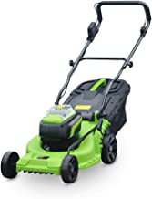 String Trimmers Electric Rotary Lawn Mower 37cm Cutting Width, 40L Grass Box, Close Edge Cutting, Rear Roller, Central Hei...