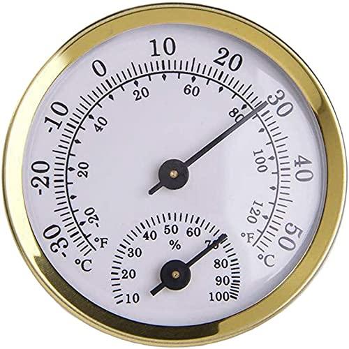 SDFOOWESD Wood Thermo-Hygrometer Sauna Termómetro Higrómetro Termómetro Sauna Mini termómetro Medidor...