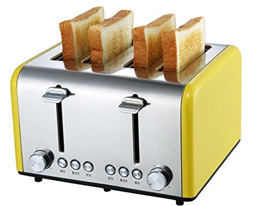 NANXCYR Broodrooster, 4 sneden, roestvrij staal, automatische broodrooster, Tumbler ontbijtmachine, bedrijfsmatig huishouden