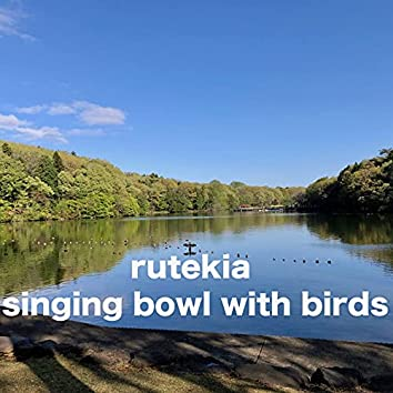 singing bowl with birds