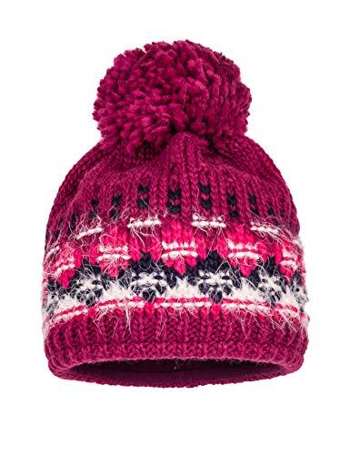 maximo Mädchen mit Pompon Mütze, Mehrfarbig (Beere 26), (Herstellergröße: 53)