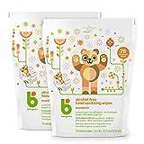 Babyganics Alcohol-Free Hand Sanitizer Wipes, Mandarin, 75 ct, 2 Pack, Packaging May Vary