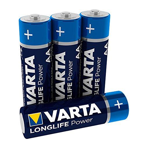 Varta 4906121414 Longlife Power (High Energy) Batteria Alcalina, Stilo AA LR6, Confezione da 4 Pile - Il design può variare