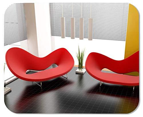 Hochwertiges Mauspad Große große, längliche, Moderne, rote Sofas Natürliches Öko-Gummi-Design Langlebige Mausmatte Computerzubehör Gaming-Mauspads als Geschenk