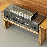 Black Earth Grills Built-in Natural Gas Hybrid Grill - Grill Head ONLY