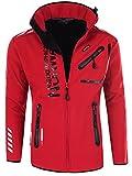 Geographical Norway - Chaqueta Rainman Turbo-Dry para hombre con tejido softshell y capucha rojo M