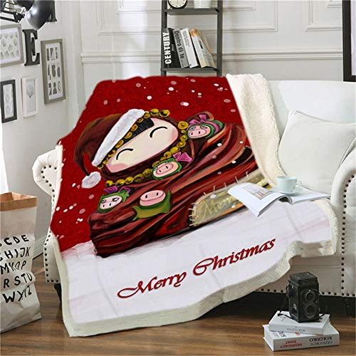 Aymsm Manta Premium Christmas Mantas para Sofa Decorativa Throw Blanket Colcha De Cama Casal Fleece Blanket and