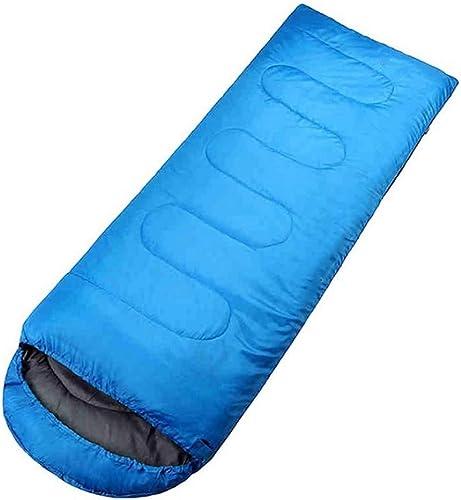 DONGY Sac de Couchage Adulte en Coton Polyester Sac de Couchage de Camping 210  75cm