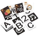 TUMAMA Baby Schwarz Weiß Flash Karten,Kleinkind-Baby Flash Cards mit Tieren Fruchtform Buchstabe Alphabet Zahlen Lernkarten,Kleinkind Spielzeug Neugeborene Baby Geschenk