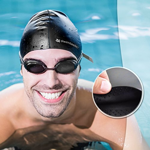 Swimtastic® Long Hair Swim Cap - Specially Designed for Swimmers with Long, Thick, or Curly Hair