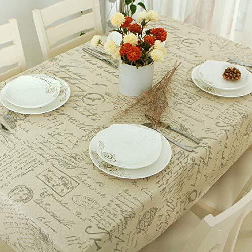 DJUX Mantel Mantel Mantel de té paño Multiusos Toalla Cubierta de Tela Toalla Mantel Carta matasellos Mantel Mantel 100x140cm