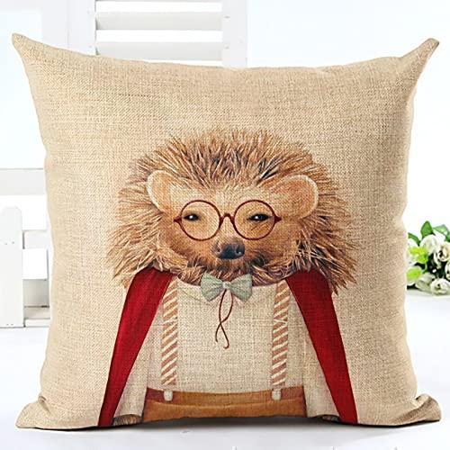 MissW Funda De Almohada Decorativa Cat Puppy Owl Animal Series Adecuada para Sofá De Dormitorio Silla Sin...