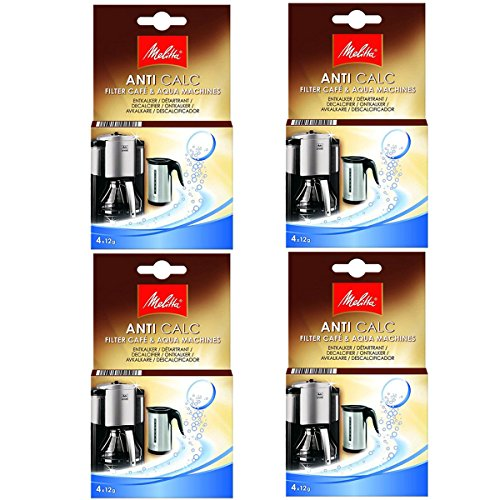 Melitta Genuine Filter Coffee Machine Kettle Anti Calc Limescale Descaler Tablets (16 x 12g)