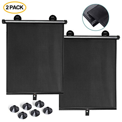 Manelord Sun Shade - 2Pcs Car Window Shade for Car Windows or Home Windows, Retractable Car Sun Shade for Blocking Sun Glare and Heat, Suitable for Car, Room, House and Office Window