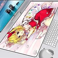 マウスパッド アニメガールズ美少女ラージマウスパッドゲーミングロッキングエッジXXLノートパソコンデスク用かわいいゲーマーキーボードマット600x300x3mm