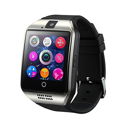 Q18 Smart Watch, Touch Screen Orologio da Polso con Telecamera SIM TF Card Slot, Sport Fitness Tracker Smartwatch per iOS Smartphone Android