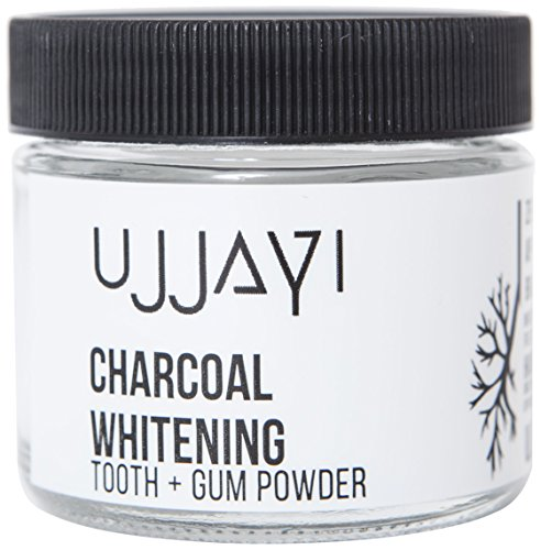 Ujjayi Boutique Natural Whitening Tooth & Gum Powder Activated Charcoal, Peppermint