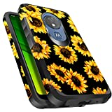 Miss Arts Moto G7 Power Case, Moto G7 Supra Case, Slim Anti-Scratch with [Drop Protection] Cute Girls Women Heavy Duty Dual Layer Armor Protective Cover Case for Motorola Moto G7 Power -Sunflower
