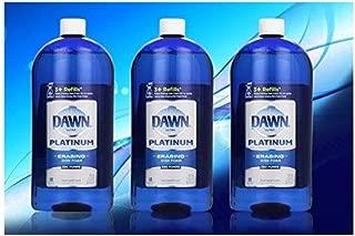 Dawn Platinum Erasing Dishwashing Foam Value Pack, 3 Refills, Fresh Rapids Scent, 30.9 Fluid Ounce