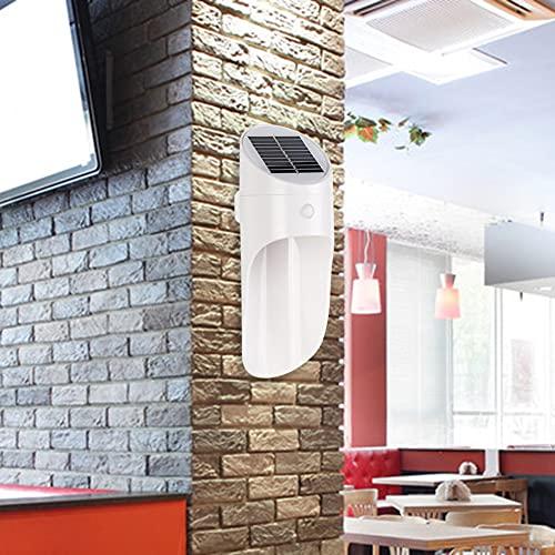SANGSHI Luz LED solar para exterior, luces LED de pared, resistente al agua, sensor de movimiento, iluminación exterior callejera
