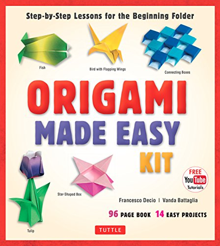 Origami Made Easy Ebook: Step-by-Step Lessons for the Beginning Folder: Origami Book with 14 Projects & Online Video Tutorial: Great for Kids and Adults! (English Edition)