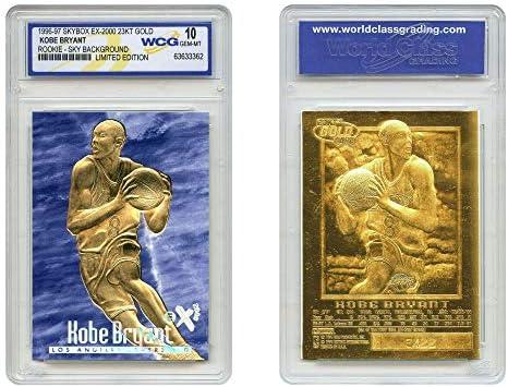 KOBE BRYANT 1996 97 Skybox EX 2000 Credentials 23KT Gold Rookie Card GEM MINT 10 BLUE SKY product image