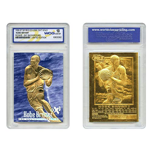 Kobe Bryant 1996-97 Skybox EX-2000 Credentials 23KT Gold Rookie Card GEM Mint 10 Blue Sky