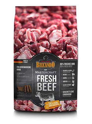 Belcando Mastercraft Fresh Beef [500g] Trockenfutter für Hunde | 80% Frischfleisch | Hundefutter getreidefrei | sortenrein | für alle Rassen