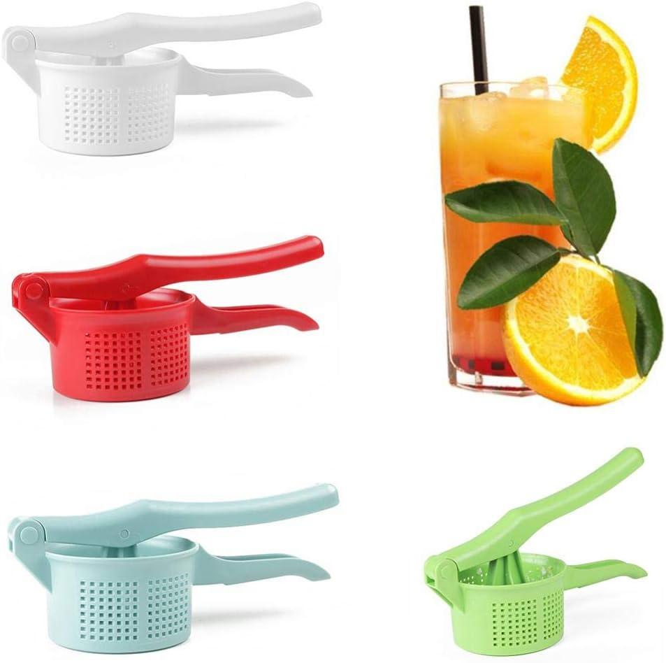 GAX Exprimidor portátil de Frutas cítricas, deshidratador, Ensalada de Verduras, Prensa Manual de limón, exprimidor Manual, Accesorios de Cocina, Verde White