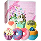 STNTUS Bath Bombs, 7 Natural Bath Bomb Gift Set, Handmade Bubble Bathbombs for Women Kids, Shea Butter Moisturize, Gifts for Mom Her Girlfriend, Mothers Day Gifts, for Birthday Valentines Christmas