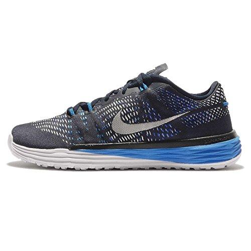 Nike Nike Herren Lunar Caldra Fitnessschuhe, Schwarz Weiß Blau Obsidian Weiß RCR Blau PHT Bl, 42,5 EU